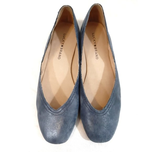 Lucky Brand Shoes - LUCKY BRAND Alba Leather Ballet Flats 8.5
